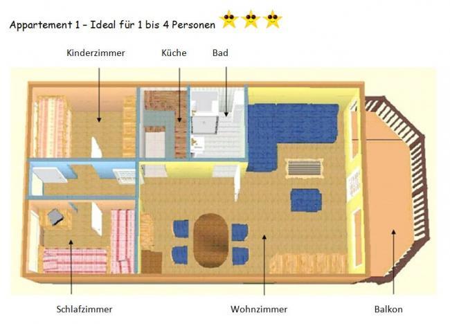 ferienappartement hinnerichs am sch nberger strand ostsee appartement 1. Black Bedroom Furniture Sets. Home Design Ideas